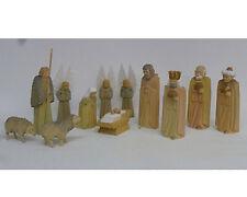 Krippenfiguren,12tlg, geschnitzt,getönt, Orig. Handwerkskunst aus dem Erzgebirge