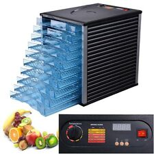 10 Tray 800W Commercial Food Dehydrator 40Hr LCD Timer Meat Fruit Preserve Dryer
