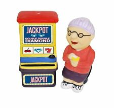 Gamblin Granny Salt and Pepper Shaker with Sound Effects