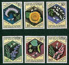 francobolli SERIE COMPLETA Fiori 6v Bulgaria timbrati