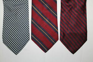 LOT of 3 BROOKS BROTHERS Red Striped & Blue with Ducks Silk Tie Ties