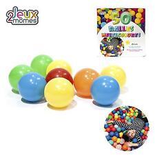Balles Jeux Multicolores Lot de 50 Ultra Légères en Plastique 6cm diamètre