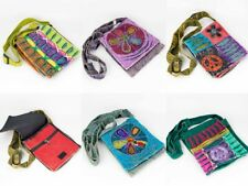 Razor Cut Stonewashed Fair Trade Ethnic Hippie Boho Festival Cotton Shoulder Bag