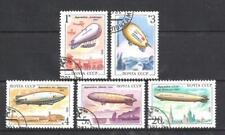 Ballons et Dirigeables Russie (34) série complète de 6 timbres oblitérés