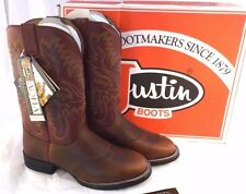 "JUSTIN 4852 12"" AQHA Foundation Cowboy Boots Men Size 10 EE (US) RETAIL $154.99"