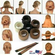 Women Hair Bun Maker Shaper French Twist Hair Fold Wrap Snap Hair Styling Tools