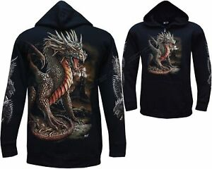 New Chinese Dragon Glow in the Dark Gothic Hoodie Hoody Jacket M - 3XL
