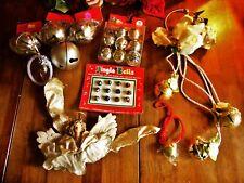 Mix Lot Metal Jungle Bells Craft Bells Christmas Decor Door Hangers Etc Angel