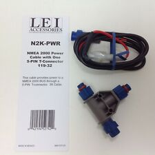 Lowrance Eagle LEI NMEA 2000 Power Cable 5 Pin T Connector N2K-PWR 119-32