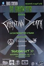 Christian Death 2014 Tijuana, Mexico Concert Tour Poster-Gothic Music, Deathrock