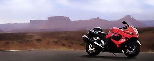 POSTER BILD BILDER XXL POP ART STYLE MOTORRAD SUZUKI HAYABUSA BIKE 250x100