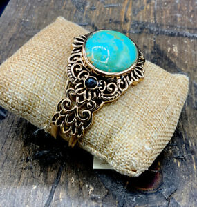 Barse Antebellum Cuff Bracelet- Mixed Stones & Bronze- New with Tags