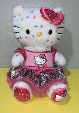 "Build A Bear Hello Kitty 40th Anniversary Confetti 18"" Plush Matching Dress"