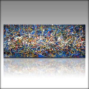 Vnartist / ORIGINAL 120cm x 50cm Abstrakt Gemälde Modern XXL Bilder 145K