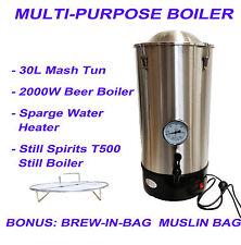 30L Multi-Purpose Electrical Boiler Brew-In-Bag Mash Tun Sparging Heater