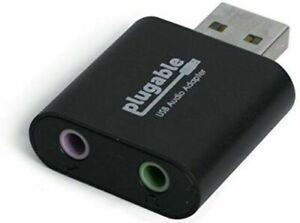 Plugable USB Audio Adapter with 3.5mm Speaker-Headphone & Microphone Jack