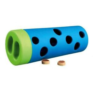 Trixie Dog Snack Roll Treat Dispensing Rubber Interactive Training Toy Game Tube