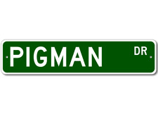 PIGMAN Street Sign - Personalized Last Name Signs
