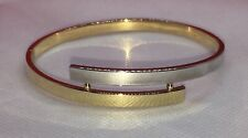 14KT Solid Yellow  White Gold Bangle