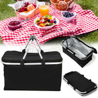 Folding Insulated Bag Picnic Basket Large Cooler Waterproof Lunch Box 30L Winter