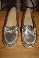 Wanted Mate Loafer Metallic Light Gold Womens Sz 7M Very Good Condition!