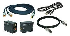 Digital zu Analog Audio Konverter + 2m Toslink + 1,5m Klinke-Cinch Kabel#DA-HDDC