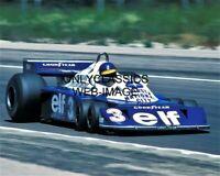 1977 RONNIE PETERSON GRAND PRIX FORMULA ONE 8X10 PHOTO TYRRELL P34 AUTO RACING