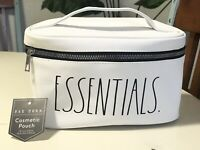 Rae Dunn NEW Essentials Cosmetic Bag With Handle And Zipper Closure New W Tags