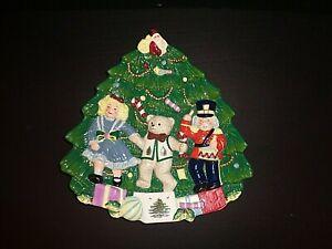 Spode Nutcracker Christmas 3 Dimensional Tree Platter Plate Made in England