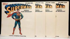 Superman KELLOGG'S PRESENTS ORIGINAL RADIO BROADCASTS Complete Set Vol 1-4 MINT