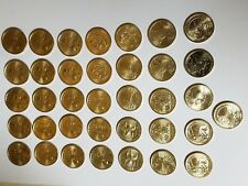 38 Coin Collection UNC! 2000-2018 P&D Sacagawea Native American Dollars BU