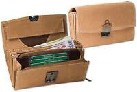Woodland® Leder Kellnerbörse mit großem Reißverschlussfach in Hellbraun
