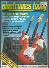 ELECTRONICS TODAY International - MAGAZINE - MARCH 1985 - good condition