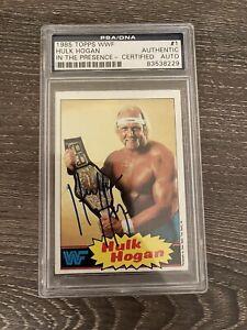 1985 Hulk Hogan Topps WWF PSA RC Rookie Auto #1 SIGNED HOF LOW POP