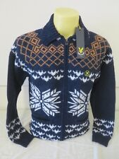 "LYLE & SCOTT VINTAGE MENS 2TONE TWOTONE VNPO NAVY M 39.6"" CHEST RARE NEW RRP150"