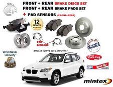 FO BMW X1 xDRIVE 23d 2.0TD 2009-  FRONT & REAR BRAKE DISCS SET + PADS KIT SENSOR
