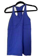 Lululemon Racerback Tank Top Yoga Work Out Shirt Purple Blue Ruffles