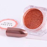 BORN PRETTY Rose Gold Mirror Effect Glitter Powder Nail Art Chrome Pigment Dust