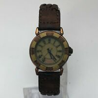 Fossil Womens BW 6770 Brown Leather Band Stone Quartz Roman Numeric Wristwatch