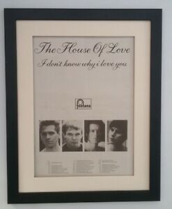 HOUSE OF LOVE*Why I Love You*Tour*1989*ORIGINAL*POSTER*AD*FRAMED*FAST WORLD SHIP