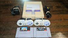 Super Nintendo SNES Console w/ OEM Controllers  w/ Super Mario Kart & Star Wars