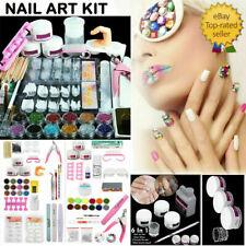 Pro Acrylic Nail Full Kit Powder Art Set Nail Art DIY Full Set Tool Kit Supplies