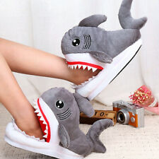 Unisex Shark Shape Novelty Slippers Animal Funny Indoor Home House Shoes