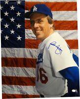 Rick Monday Hand Signed Autographed 16x20 Photo American Flag Background COA