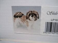 Shih Tzu brown white dog dogs 10cm high Leonardo collection by Lesser and Pavey