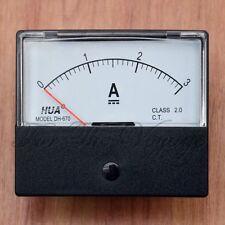 0 - 3A DC AMPEROMETRO Amp corrente pannello Misuratore Analogico Analogico Nuovo