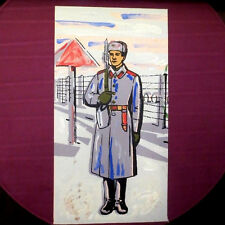 1970s Soviet Russian USSR Red Army SOLIDER Frontier GUARD Painting Poster RUSSIA