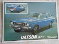 Datsun Sunny 120Y Coupe brochure Apr 1977