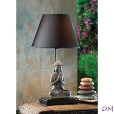 Modern Contemporary Sitting Buddha Figurine Table Lamp Asian Decor