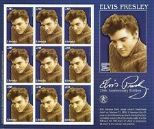 "STAMPS LIBERIA ""Elvis Presley - Heartbreak Hotel Record"" 9 STAMPS"